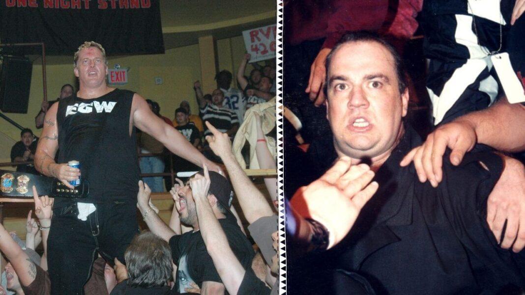 ECW-Legenden: Sandman und Mastermind Paul Heyman (r.)