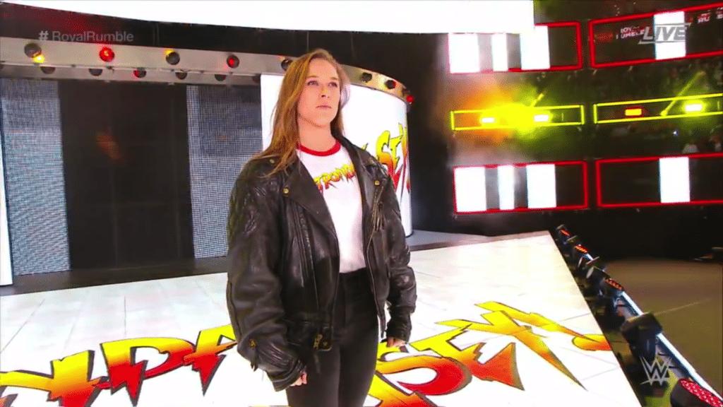 Ronda Rousey beim WWE Royal Rumble 2018