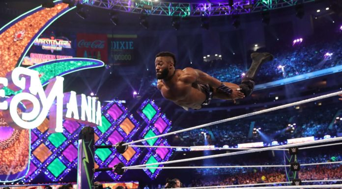 Cedric Alexander bei WrestleMania 34. / (c) 2018 WWE. All Rights Reserved.