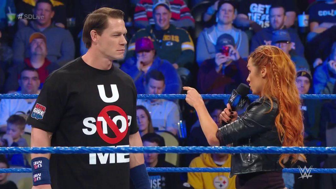 John Cena und Becky Lynch - WWE SmackDown - 1.1.19