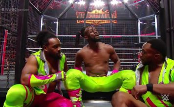Kofi Kingston bei WWE Elimination Chamber 2019