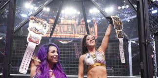 Sasha Banks und Bayley bei WWE Elimination Chamber 2019 - (c) 2019 WWE. All Rights Reserved.