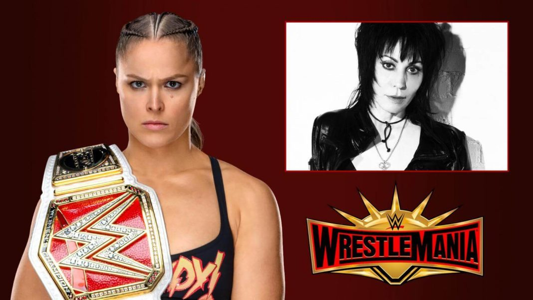 Joan Jett - Ronda Rousey - WrestleMania - (c) 2019 WWE. All Rights Reserved.