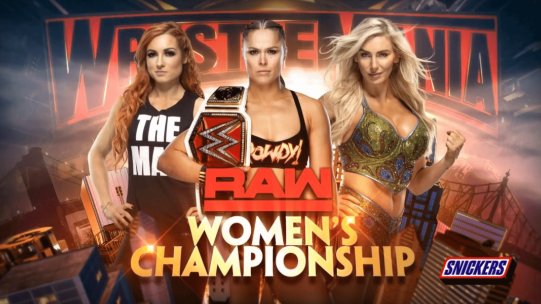 Ronda Rousey vs. Charlotte Flair vs. Becky Lynch - WWE WrestleMania 35 - (c) 2019 WWE. All Rights Reserved.