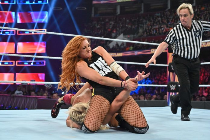 Becky Lynch vs. Charlotte Flair - WWE Fastlane 2019 (c) 2019 WWE. All Rights Reserved.