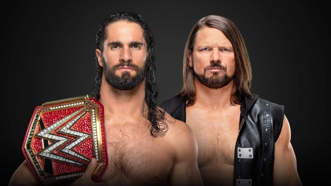 Universal Champion Seth Rollins vs. AJ Styles bei WWE Money in the Bank 2019 - Grafik: (c) 2019 WWE. All Rights Reserved.