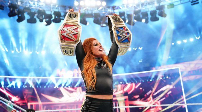 Becky Lynch bei WWE WrestleMania 35 (Bild: (c) 2019 WWE)