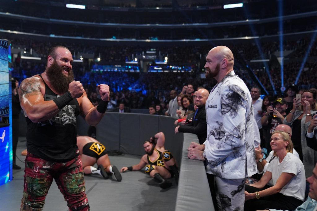 Braun Strowman vs. Tyson Fury - WWE SmackDown - (c) 2019 WWE. All Rights Reserved.