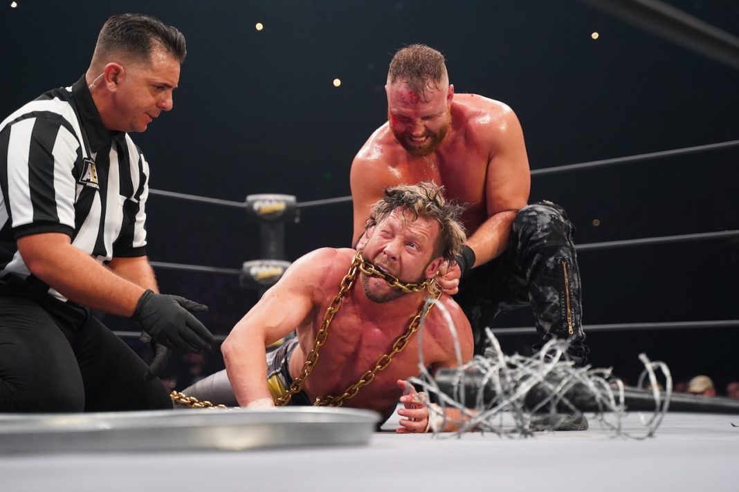 Kenny Omega vs. Jon Moxley - (c) 2019 All Elite Wrestling.