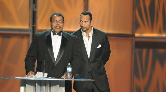 "Rocky Johnson und Dwayne ""The Rock"" Johnson"