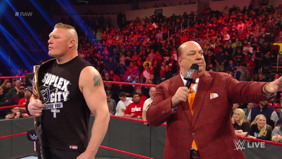 Brock Lesnar und Paul Heyman ((c) 2020 WWE. All Rights Reserved.)