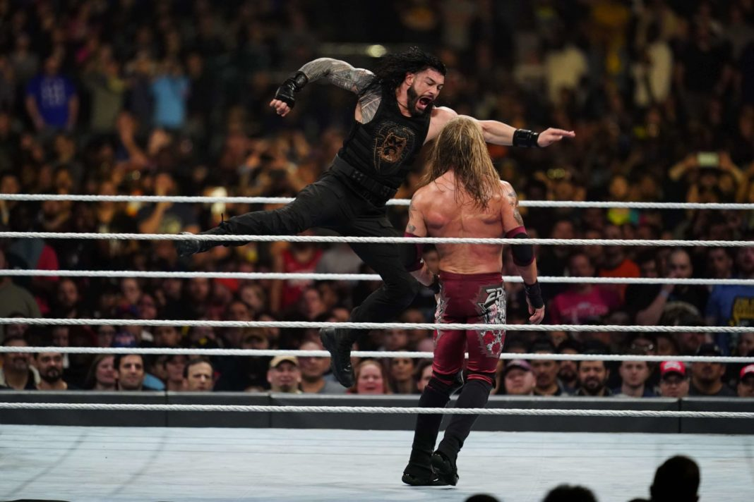 Roman Reigns vs. Edge - (c) 2020 WWE. All Rights Reserved