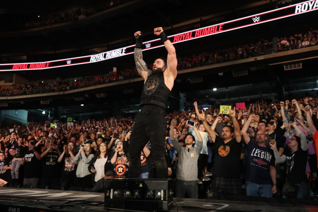Roman Reigns beim WWE Royal Rumble - (c) 2020 WWE. All Rights Reserved.