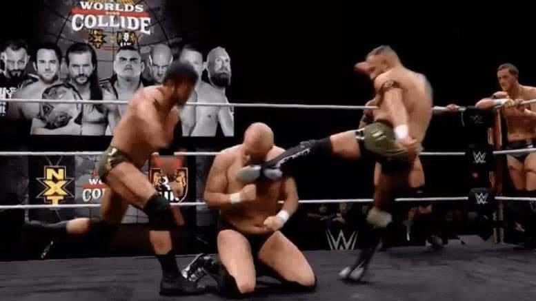 Alexander Wolfe scheidet nach diesem Treffern aus - WWE Worlds Collide - (c) 2020 WWE. All Rights Reserved.