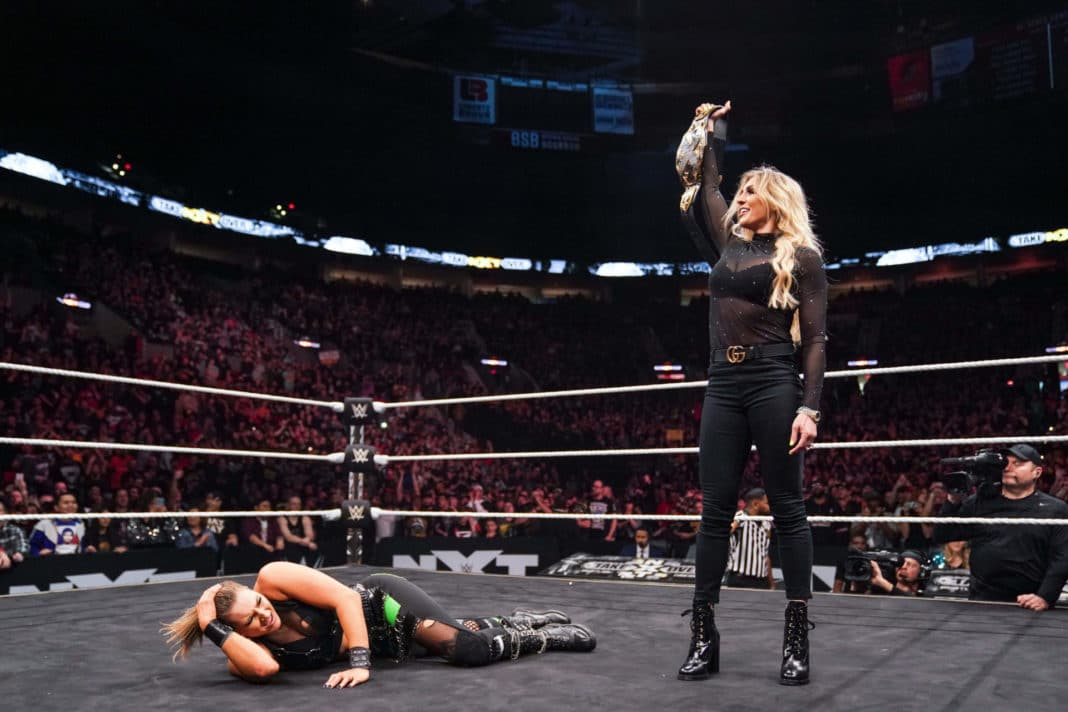 Charlotte Flair beim NXT Takeover - (c) 2020 WWE. All Rights Reserved.