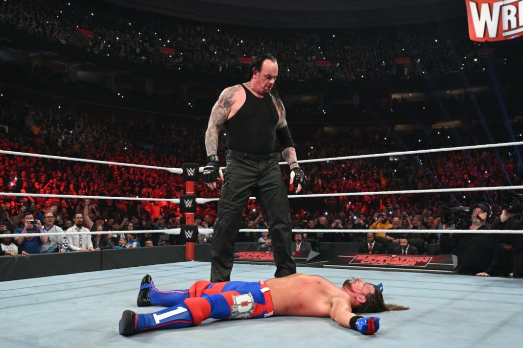 Undertaker vs. AJ Styles bei WWE No Escape 2020 - (c) 2020 WWE. All Rights Reserved.