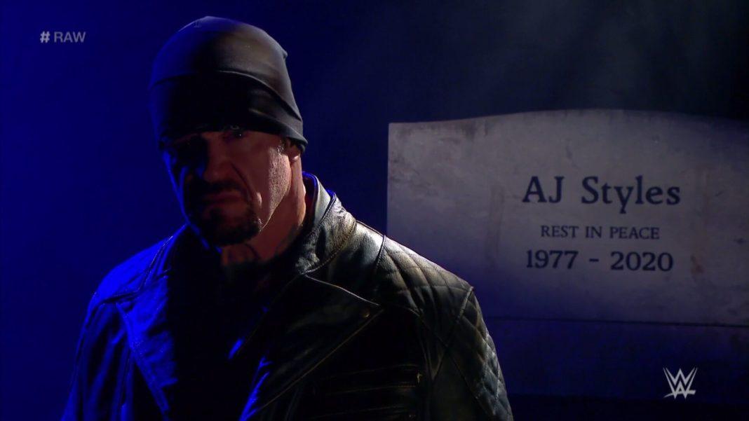 Undertaker will AJ Styles bestatten - (c) 2020 WWE. All Rights Reserved.