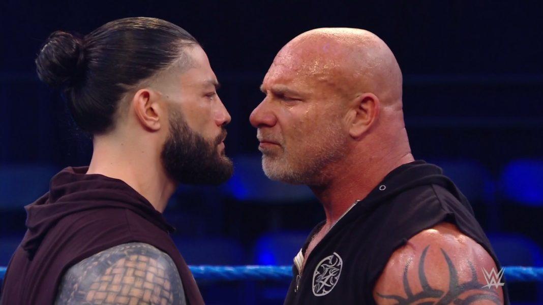 Roman Reigns vs. Bill Goldberg - (c) 2020 WWE. All Rights Reserved.