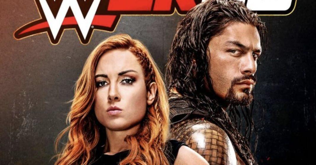 Becky und der Big Dawg auf dem Cover von WWE 2K20