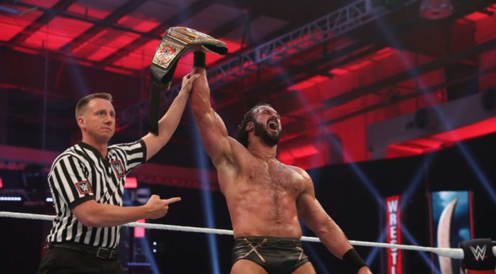Drew McIntyre - WWE-Champion bei WrestleMania 36 - (c) 2020 WWE. All Rights Reserved.