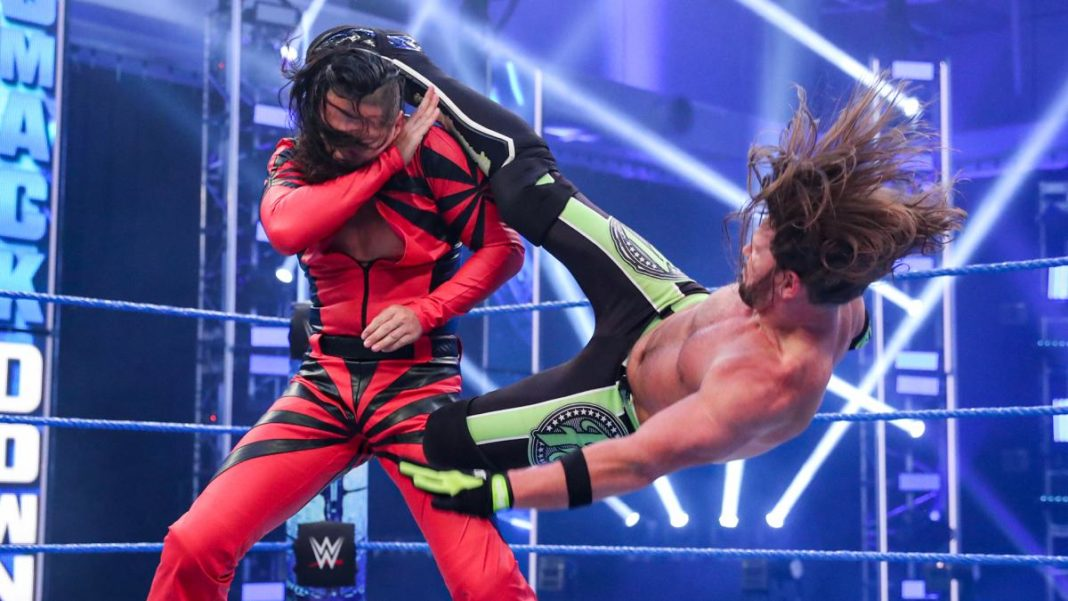 AJ Styles vs. Shinsuke Nakamura - WWE SmackDown - (c) 2020 WWE. All Rights Reserved.