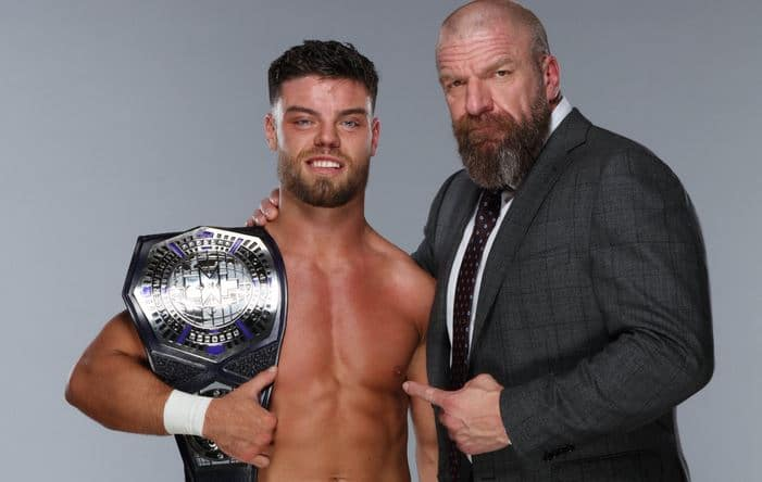 Triple H präsentiert NXT Cruiserweight Champion Jordan Devlin - (c) 2020 WWE. All Rights Reserved.