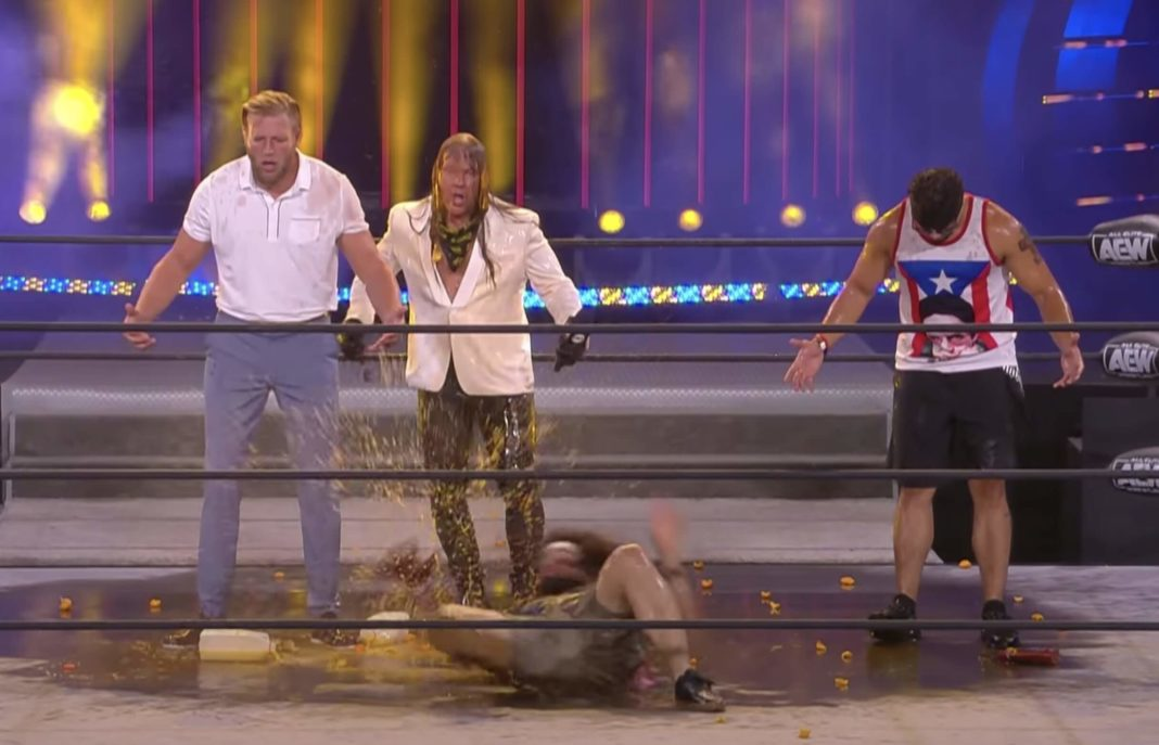Jericho blamiert sich bei AEW Fight For The Fallen
