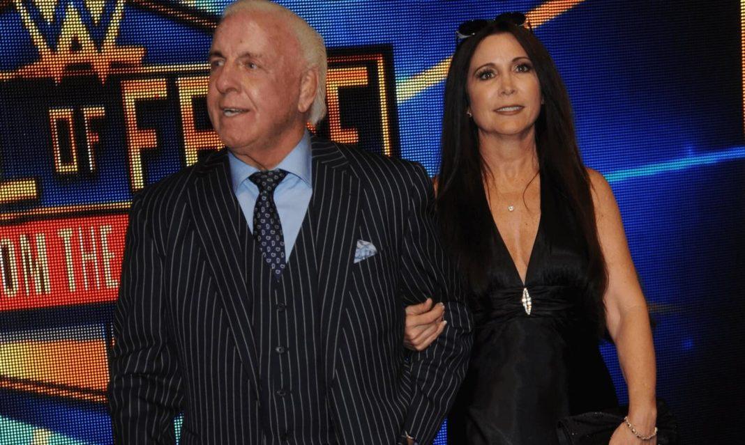 WWE Hall of Famer Ric Flair mit seiner Ehefrau Wendy Barlow