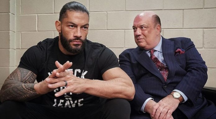 Roman Reigns und Paul Heyman bei WWE SmackDown - (c) 2020 WWE. All Rights Reserved.