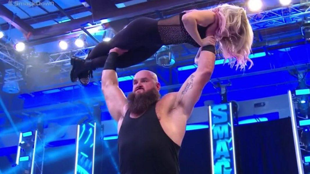 Braun lässt Bliss fallen - WWE SmackDown vom 14. August 2020 - (c) 2020 WWE. All Rights Reserved.