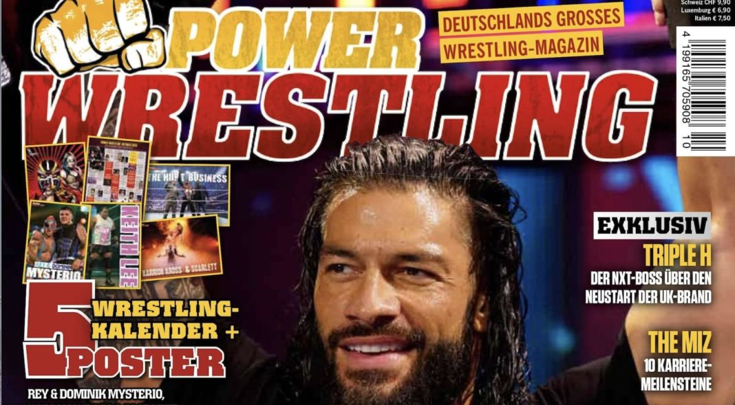 Power-Wrestling Oktober 2020 - Preview - Cover: WWE-Star Roman Reigns