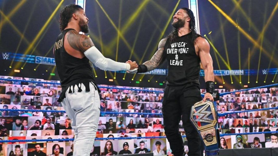 Roman Reigns & Jey Uso - Thema im SmackDown WWE Podcast - (c) 2020 WWE. All Rights Reserved.