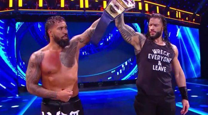 Spannungen sind zu spüren in der samoanischen Wrestling-Familie bei WWE SmackDown am 11. September 2020 - (c) 2020 WWE. All Rights Reserved.