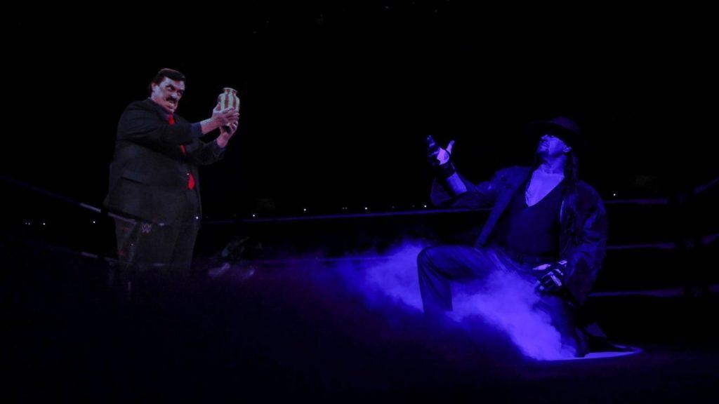 Paul Bearer erscheint dem Undertaker bei der WWE Survivor Series 2020 - (c) WWE. All Rights Reserved.