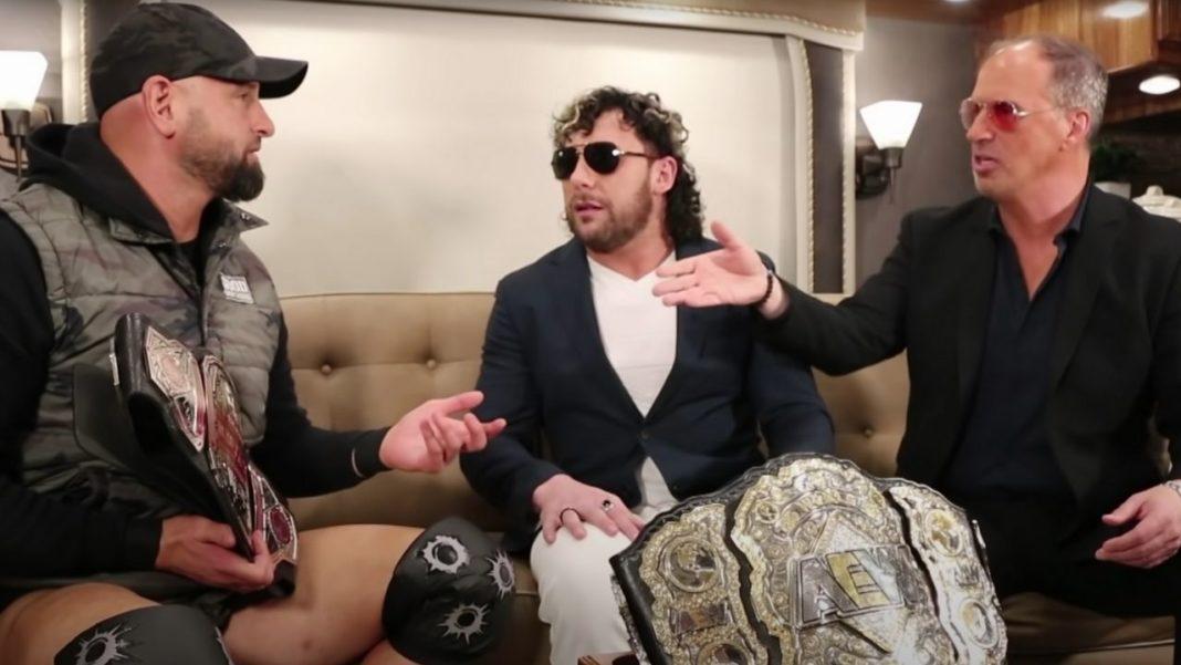 Karl Anderson, Kenny Omega, Don Callis (v.l.n.r.) bei IMPACT Wrestling