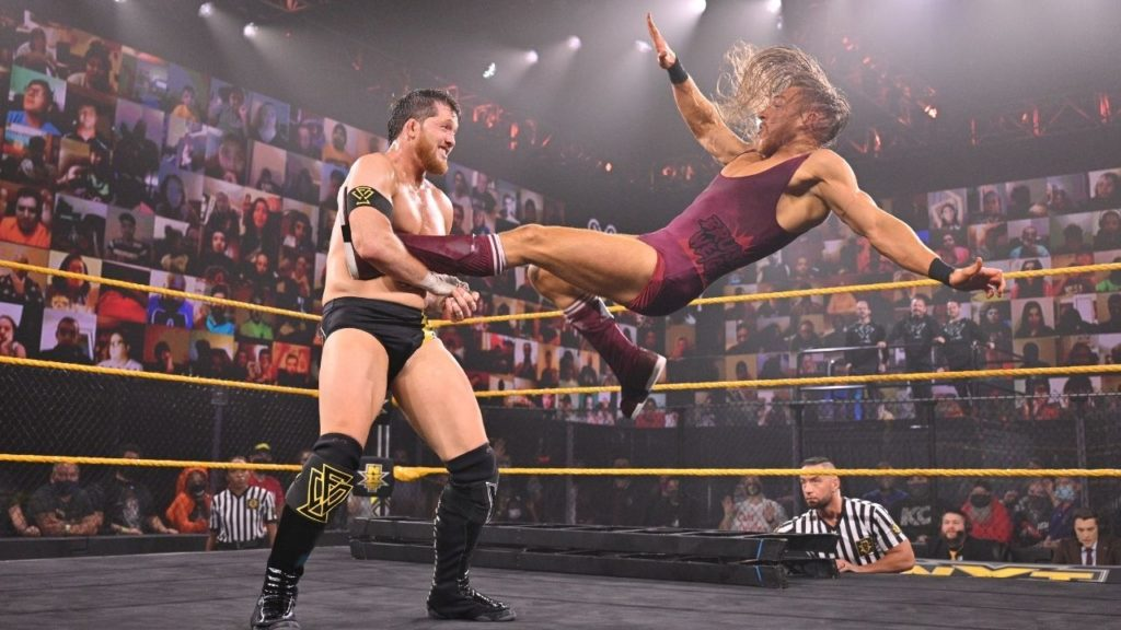 WWE NXT Star Pete Dunne vs. Kyle O'Reilly - (c) 2020 WWE. All Rights Reserved.
