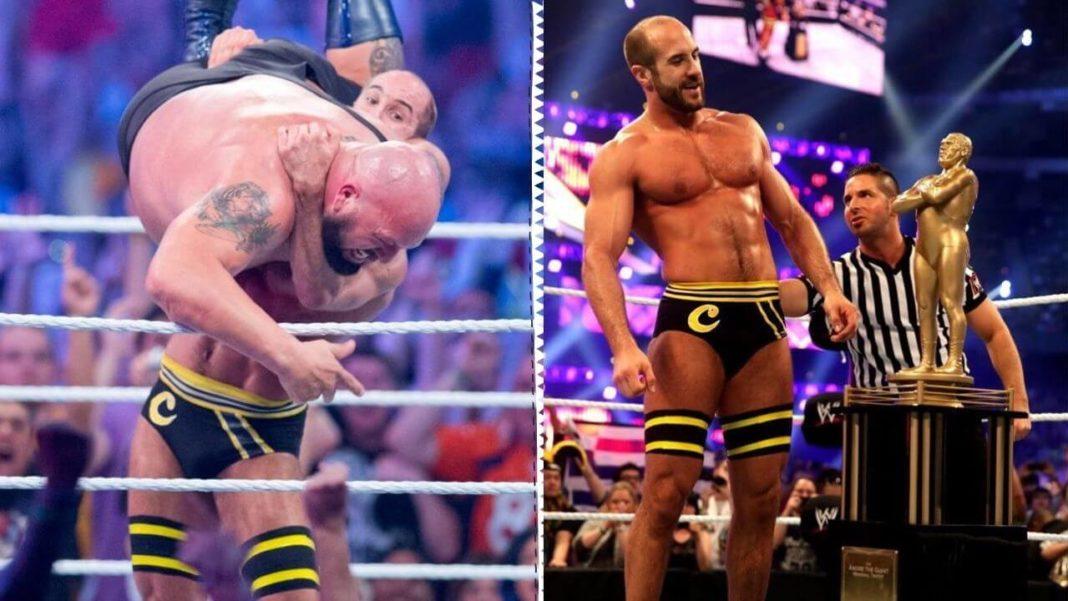 Cesaro gewinnt die Andre-Battle-Royal bei WrestleMania 30 - (c) WWE. All Rights Reserved.