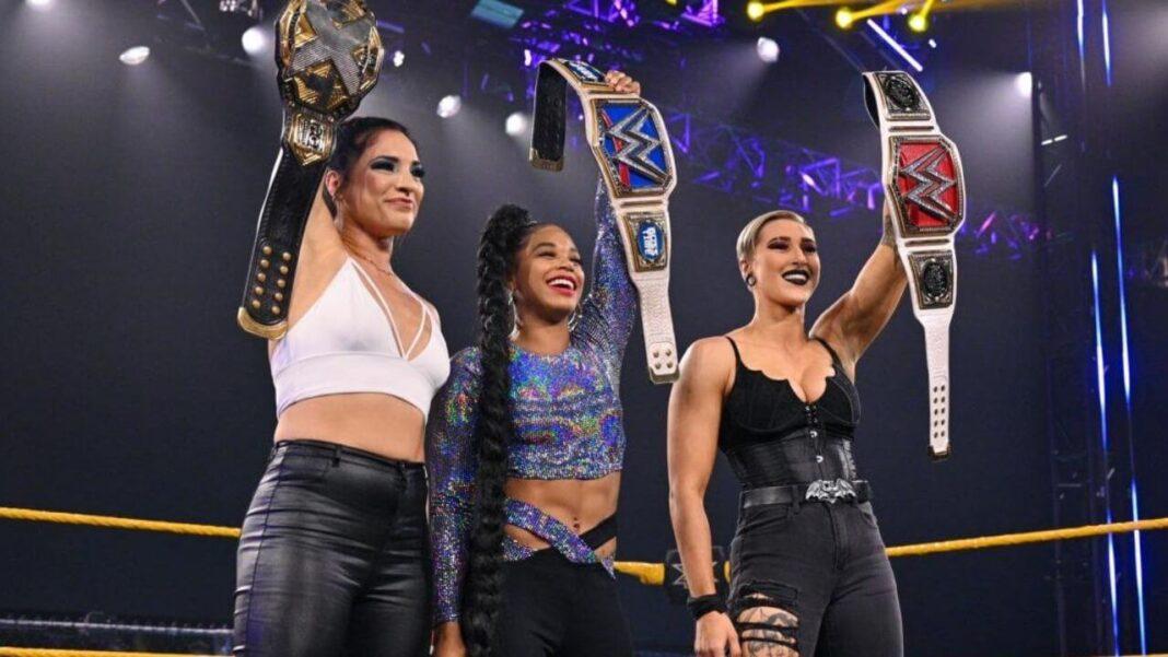 Raquel Gonzalez, Bianca Belair, Rhea Ripley - WWE NXT - 13. April 2021