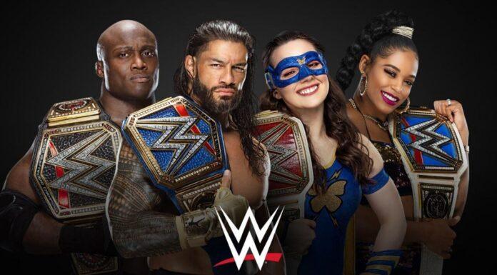 Die amtierenden Champions bei WWE freuen sich auf 2022 - Grafik: (c) WWE.