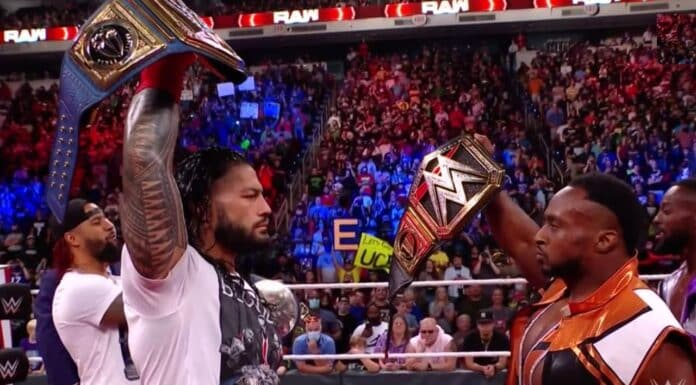 Universal Champion Roman Reigns trifft WWE-Champion bei Raw - 20. September 2021 - Foto: (c) WWE. All Rights Reserved.
