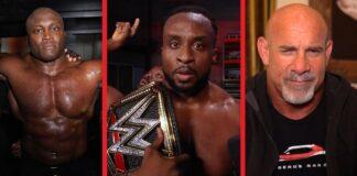 Bobby Lashley, WWE-Champion Big E und Bill Goldberg bei Raw vom 27. September 2021 - Bilder: (c) 2021 WWE. All Rights Reserved.
