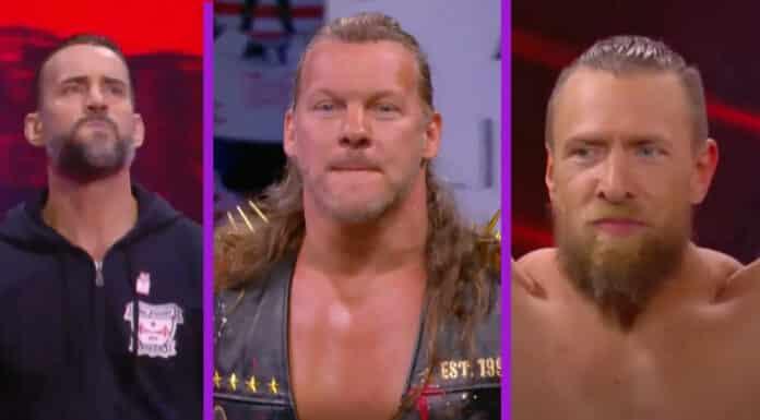 CM Punk, Chris Jericho und Bryan Danielson bei AEW Rampage - 15. Oktober 2021