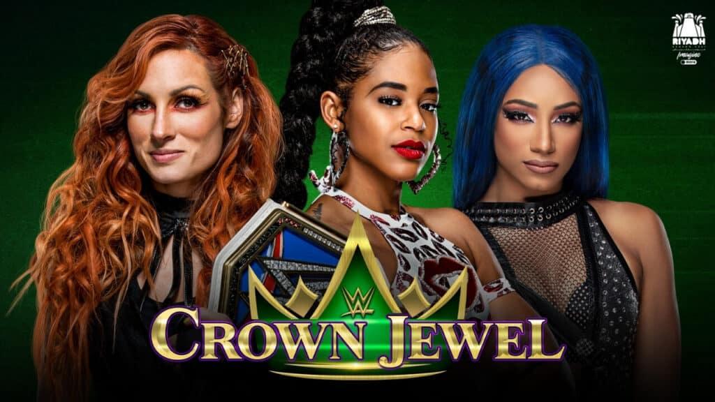 SmackDown Women's Champion Becky Lynch vs. Sasha Banks vs. Bianca Belair bei WWE Crown Jewel 2021